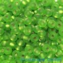 Rocailles 4.5mm rentrage argent vert claire 20g