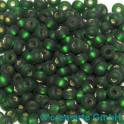 Rocailles 4.5mm silbereinzug matt dunkelgrün 20g