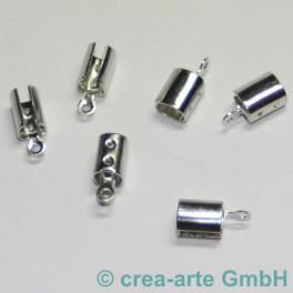 Klemmverschluss 4mm silberfarbig 6St._1067
