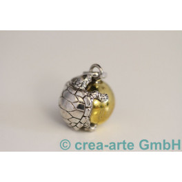 Klangkugel Silber-vergoldet 925 18mm Schildkröte_1068