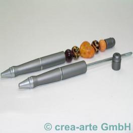 Perlenkugelschreiber silber matt_120