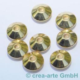 Diskus, goldfarbig, 5mm 8 Stück_1313