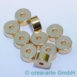 Metallperlen 7mm, goldfarbig,10 St_1314