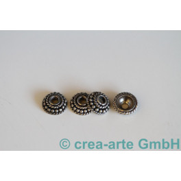 Perlkappen 925er Silber grano 10Stk 10mm, Loch 3mm_1341