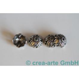 Perlkappen 925er Silber 8mm, Loch 1mm 10 St_1343