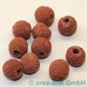 Lavaperlen rund, rot 11mm, 10 Stück