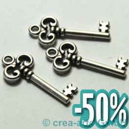 Metallanhänger Schlüssel, 30x13mm, 3 Stück_1452