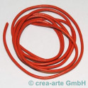 Lederschnur 2mm, orange