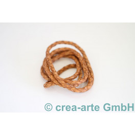 Lederschnur geflochten, 4mm, natur 1m_1526