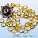 Perlenhülsen goldfarbig 5mm 50 Stück