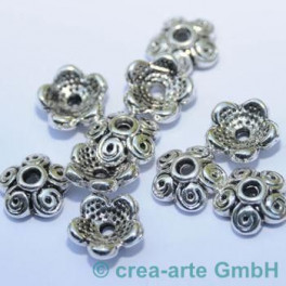 Metallkappen 12mm  Loch 2mm 10 St._1572