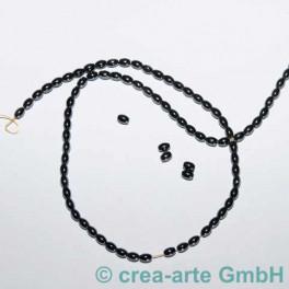 Hämatit--Perlen - Strang, 3x5mm ca. 87 St._1582