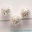 Metallperlen 15mm, silberfarbig, 3 Stück