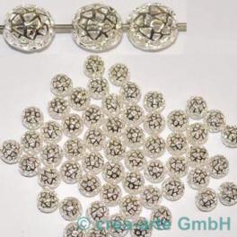 GP Metallperlen silberfarbig 60 Stück_1608