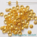 GP Metallkappen 13x13mm, goldfarbig 100St.