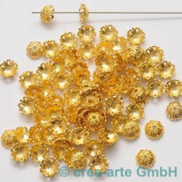 GP Metallkappen 13x13mm, goldfarbig 100St._1733