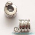 Perle avec grand trou, 15x11mm, 2 p. acier affiné