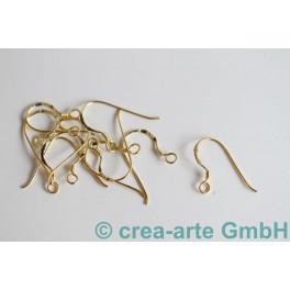 Ohrhaken einfach, vergoldet, 925er Silber 10 St._1757