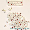 Murrine effetre fiore bianco 50g. 8-9mm