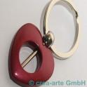 Herzschlüsselanhänger, rot