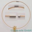 Collier mit starkem Magnet, gold/kupferfarbig, 45c