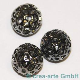 Metallperlen 15mm, black 3 Stück_2010