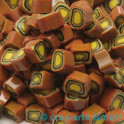 Murrine effetre marrone-orange 50g. 7-8mm