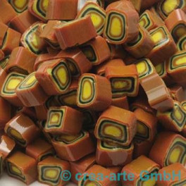 Murrine effetre marrone-orange 50g. 7-8mm_2025