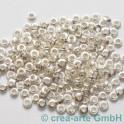 Perlenhülsen silberfarbig 6 mm Perlenloch 200St.