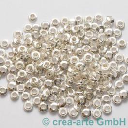 Perlenhülsen silberfarbig 6 mm Perlenloch 200St._2056