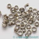 Perlenhülsen nickelfarbig 6 mm Perlenloch 50St._2063