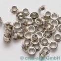 Perlenhülsen nickelfarbig 6 mm Perlenloch 50St.