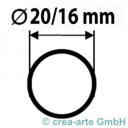 Boro Rohr D=20mm Wanddicke 2mm_2083