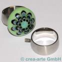 Edelstahl Rico-Design Fingerring 17mm, breit
