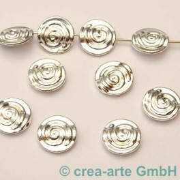Metallperlen, silberfarbig,12x4mm, 10 St_2257