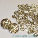 GP Metallperlen silberfarbig, 100 Stück