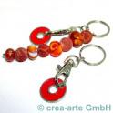 Schlüsselanhänger mit Chip, rot