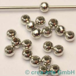 Metallkugel silberfarbig, 7mm, 20 Stück_2264