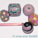 Handmade rosa fuxia EDP 4-5mm