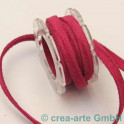 Wildlederband 5mm, fuchsia
