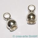 Endkappe 925er Silber massiv, gewölbt 2 Stück