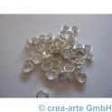Perlenhülsen 4mm versilbert 50 Stück