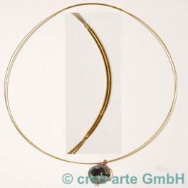 Collier 3strangig, goldfarbig, 50cm_2756