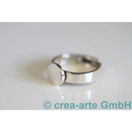 Fingerring mit Platte 10mm 21-23mm 925er Silber_2789
