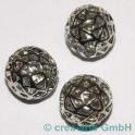 Metallperlen 15mm, nickelfarbig, 3 Stück