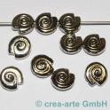 Perles metalliques, 10 pièces