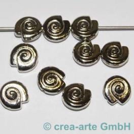 Metallperle Schneggli, 10 Stück_2858