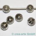Metallperle  10mm, Loch 1,7mm 6 St._2868