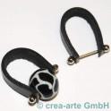 Piercing mit Lederband schwarz