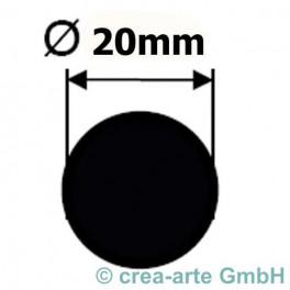 Borosilikatglasstange klar 20mm_2880